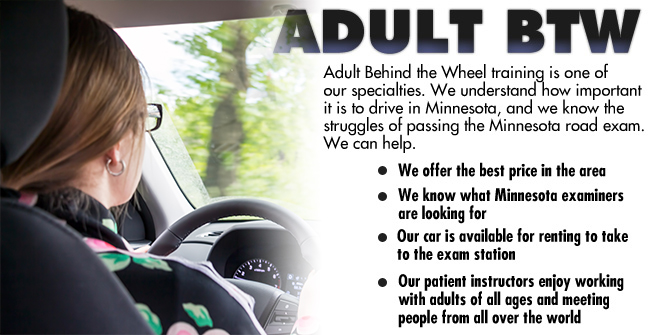Adult Behind The Wheel